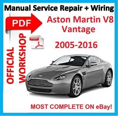 official workshop manual service repair for aston martin vantage v8 2005  -2015