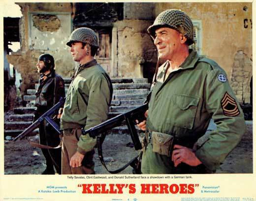 "Kelly/'s Heroes Movie Silk Fabric Poster Richard Burton Clint Eastwood 27/""x40/"""