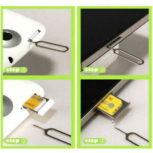 50PCS Eject Sim Card Tray Open Pin Needle Key Tool for iPhone 5S 6 6Plus 7 7plus