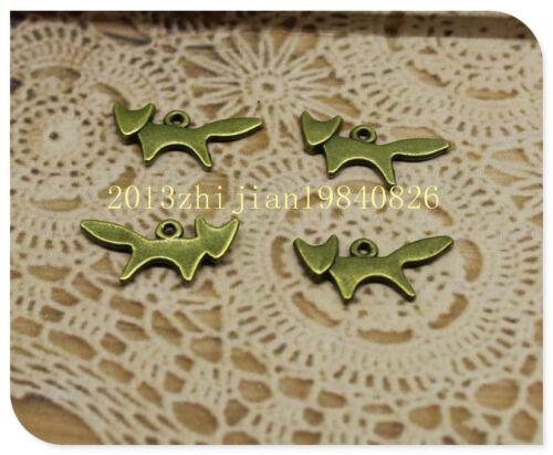 30//90pcs 20x9mm antique silver delicate lovely alloy mini fox Charm pendant