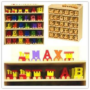 Children-039-s-Room-Decoration-Personalised-wooden-name-train-set-Buy-3-Get-1-Free