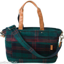 NEW Nixon Messenger Bag HANDBAG BACKPACK STUDENT BOOK VEGAN Plaid Green $150 RV