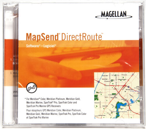 Magellan Mapsend Direct Route Mapping Software For Meridian /& Sportrak Models