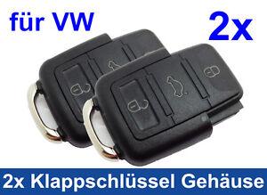 PréCis 2x 3 Touches Boîtier Pour Vw Volkswagen Pliante Clé Clé Radio De Rechange Fb-afficher Le Titre D'origine