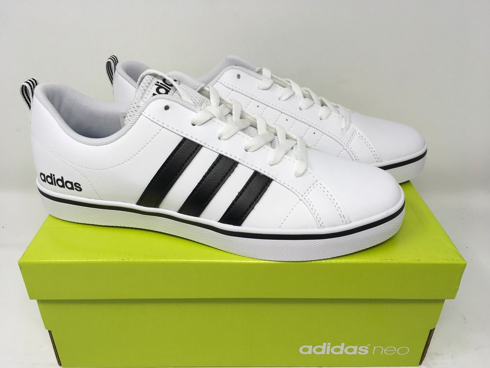 Adidas NEO Men's Pace VS Fashion Sneakers Shoes White Black Blue AW4594 NEW