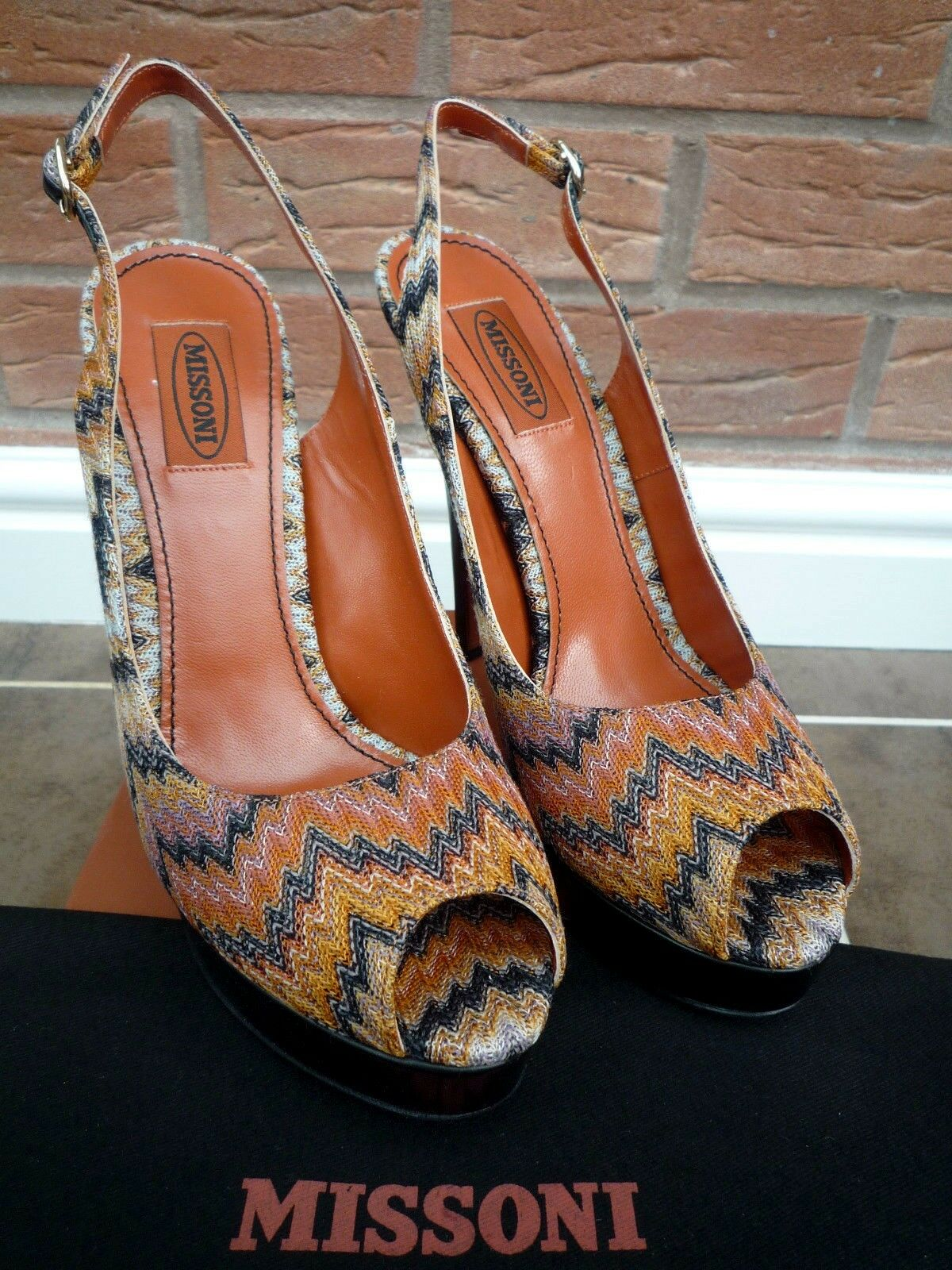MISSONI RASHEL Schuhe SNAKE PEEP TOE STILETTO Schuhe RASHEL RETAIL  SIZE 5 MADE IN ITALY 0df040