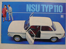 Prospekt NSU Typ 110, ca.1967, 16 Seiten