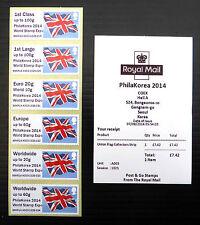 GB Union Flag Post & Go Local South Korea PhilaKorea Exhibition Exclusive FP202