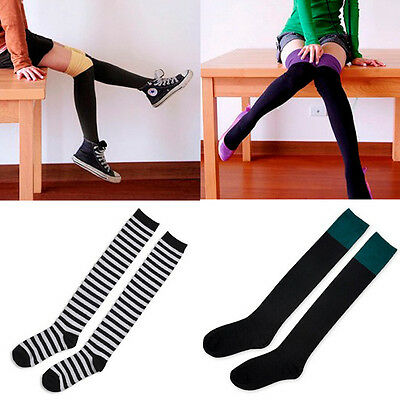 YK0006 Fashion Women Over Knee Socks Girls New Long Stockings Cotton Thigh-Highs