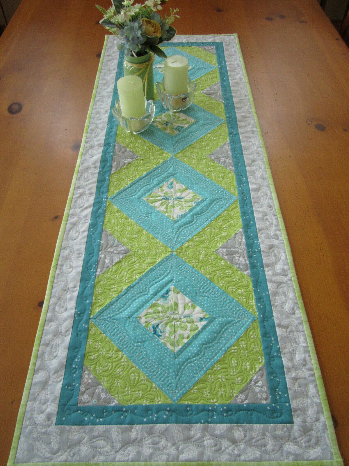 Table Runner moderne printemps fait main Linge de Table Coton Runner
