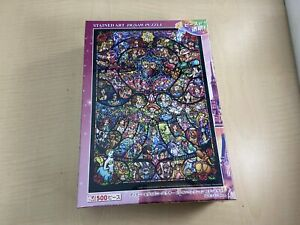 500 Pieces Disney /& Pixar Heroine Stained Art Pure White Jigsaw Puzzle