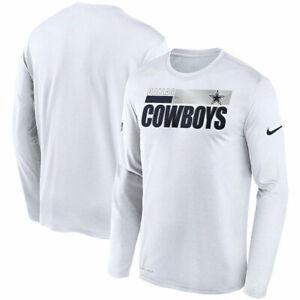 New Nike Dallas Cowboys Football Dri-Fit t-shirt men's 3XL Sideline Long Sleeve