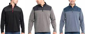 Eddie-Bauer-Men-039-s-Mixed-Media-Pullover-Jacket-Choose-Size-amp-Color-H