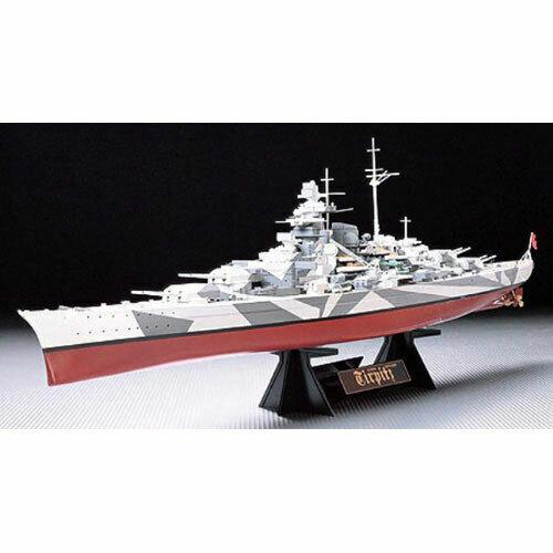 TAMIYA 78015 Tirpitz with stand 1 350 Ship Model Kit