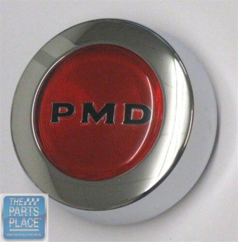 67-79 Pontiac PMD Rally II Center Cap Each Red Snap On Style