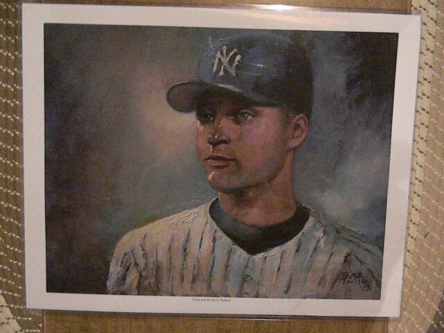 1 DEREK JETER N.Y. Yankees LIMITED EDITION 16 X 20 Buck Paulson LITHOGRAPH #177