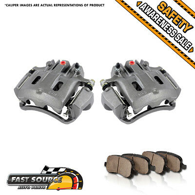 Rear Brake Calipers /& Pads For 2000 2001 2002 2003 2004 FORD EXCURSION F250 F350
