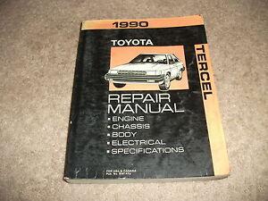 1990 Toyota TERCEL Service Manual | eBay