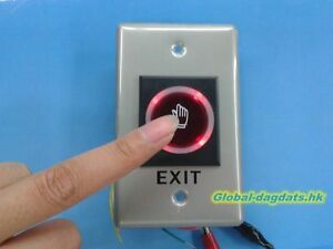 New Infrared IR Sensor LED Light NO Touch Door Exit Button/Door Release Button