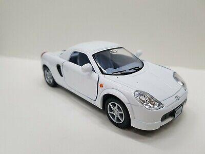 Toyota MR2 Blanc kinsmart Jouet Modèle de voiture échelle 1//32 DIECAST METAL Open Doors