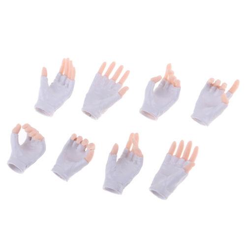"4Pair 1//6 Scale White Hand Model Gloves for 12/"" JO PH TBL Action Figure Body"
