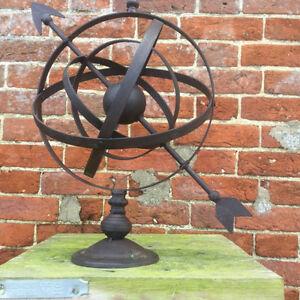 Image Is Loading Wrought Iron Rustic Clic Design Garden Armillary Hemispherian