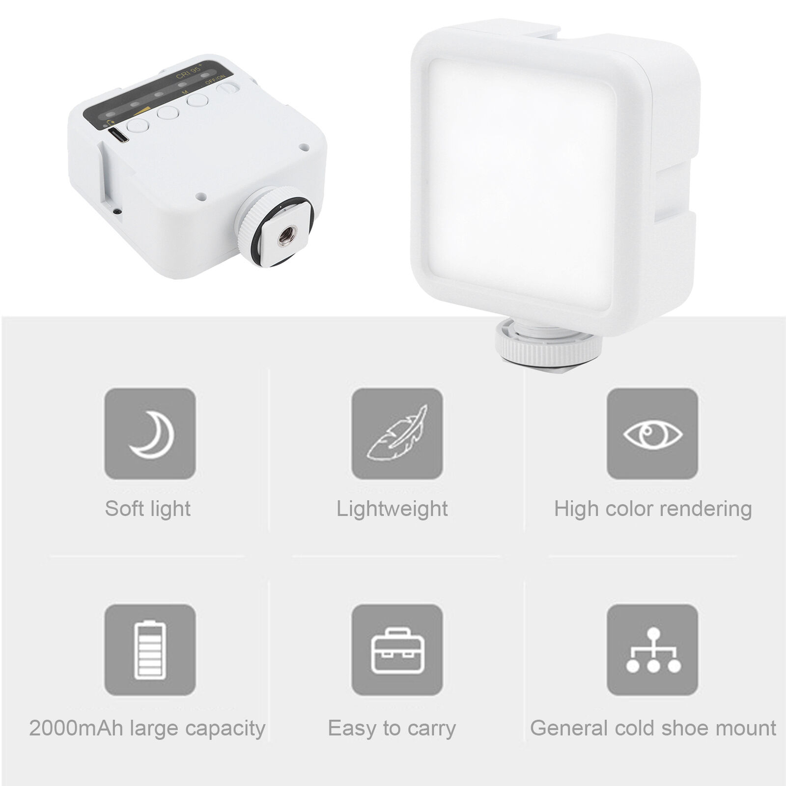 ULANZI VL49 60 Degree Adjust Action Camera Phone Fill Light LED Lamp Dimmable
