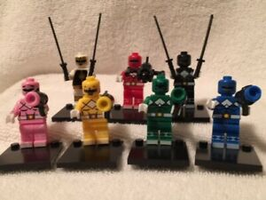 Nice Lot of 7 Power Rangers Compatible with MINI Figures