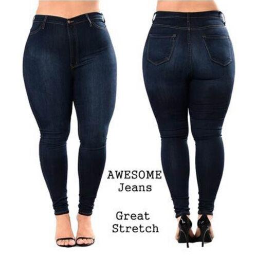 haute de denim taille bleu femmes pour taille skinny legging Pantalon stretch grande en Jeans q7X0at