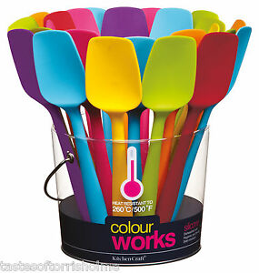 Kitchen-Craft-Colourworks-20cm-Small-Flexible-Silicone-Spatulas-Bowl-Scrapers