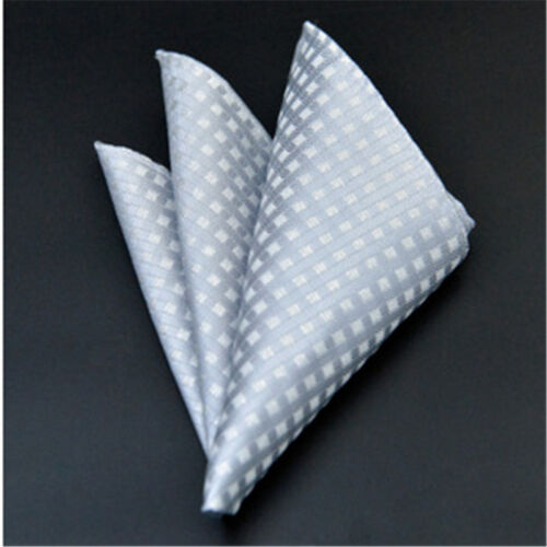 Men/'s Pocket Square Hankerchief Korean Paisley Dot Floral Hanky Wedding Party