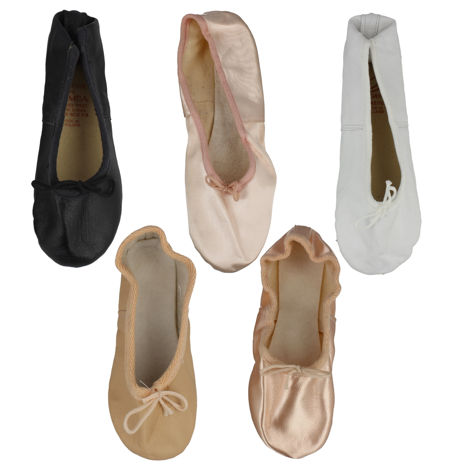 Girls Ladies Womens Leather Satin Canvas Ballet Shoes