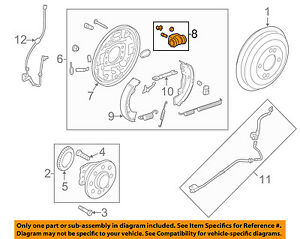 s l300 details about hyundai oem 12 14 accent rear wheel cylinder 583300p000