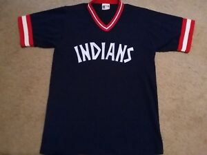 Image is loading Vintage-1977-MLB-Cleveland-Indians-Authentic-Throwback -Road- 62238f143