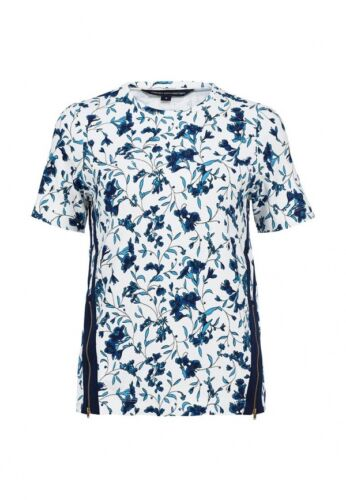 STYLISH NEW FRENCH CONNECTION PORCELAIN ZIP SIDE TOP TEE RRP £55 SZ XS M 76CAC