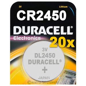 20x-CR2450-DURACELL-Electronics-Lithium-Knopfzelle-DL2450-3Volt
