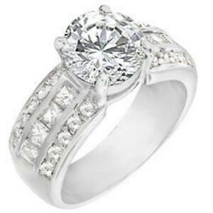18K-W-GOLD-EP-4-0CT-DIAMOND-SIMULATED-ENGAGEMENT-RING-size-5-11-you-choose