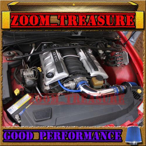 BLUE 2005-2006//05-06 PONTIAC GTO G T O 5.7L 6.0L V8 FULL AIR INTAKE KIT