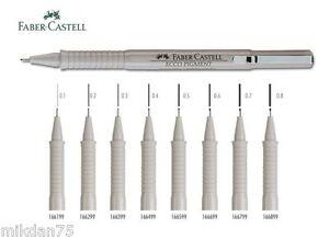 außergewöhnliche Auswahl an Stilen kommt an mehrere farben Details about FABER-CASTELL ECCO PIGMENT Drawing Pen Black