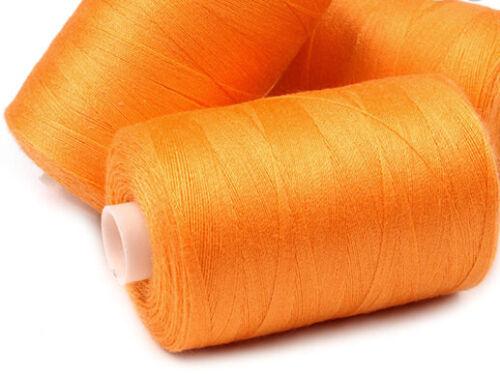 1000m 4000m Nähgarn Overlockgarn Nähmschinengarn Handgarn orange