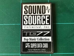 Details about Yamaha SOUND SOURCE TG707 POP MUSIC COLLECTION SUPER DATA  CARD TG77/SY77 ROM
