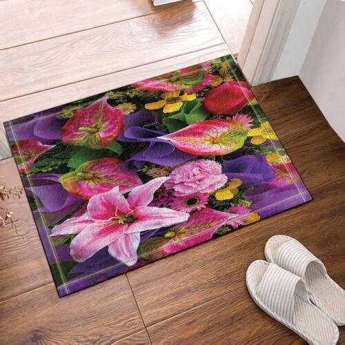 Bouquet of Love Roses Peach Blossom Rug Warm Carpet Bedroom Bathroom Mat Doormat