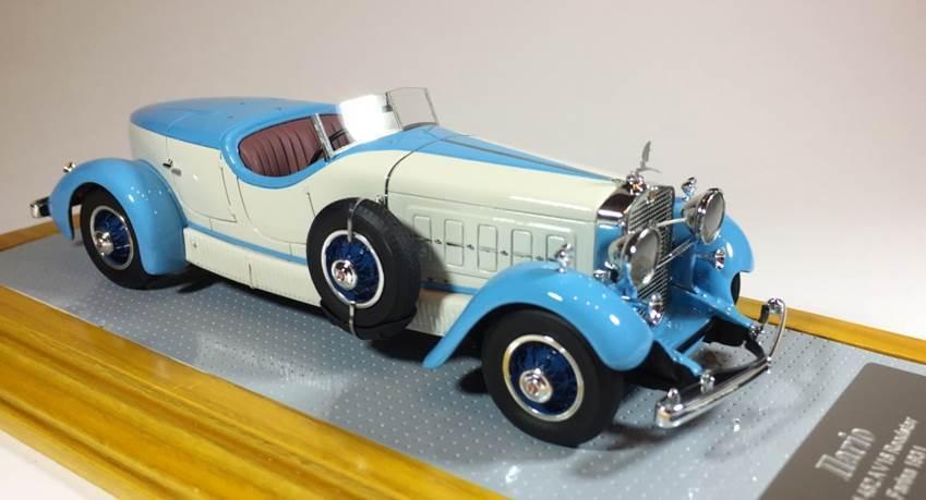 Ilario 099-cadillac 452a v16 roadster farina 1931 original and current car1 43
