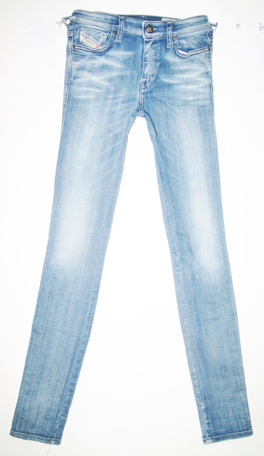 HOT Women DIESEL SKINZEE 822D Slim SKINNY STRETCH Jeans 4  27 x 34 (Fit 25 x33)