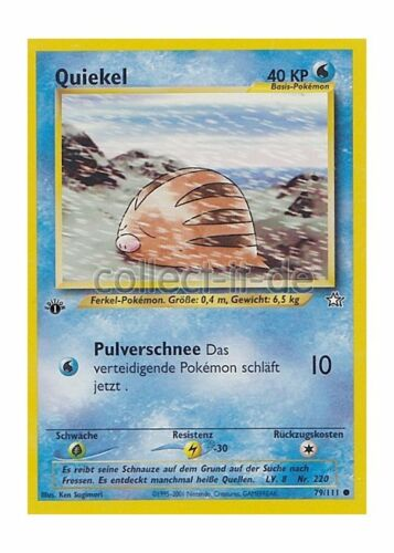 Pokemon 79//111 Quiekel First Edition Neo Genesis