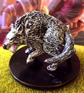Winter Wolf Dd Miniature Dungeons Dragons Pathfinder Storm Druid