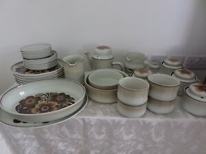 Image is loading DENBY-WESTBURY-SELECTION-OF-DINNER-WARE-PLATES-TEA- & DENBY WESTBURY - SELECTION OF DINNER WARE PLATES TEA POT BOWLS ...