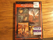 The 4-Movie Resident Evil Collection (2 DVDs, 2013) New First four movies Afterl