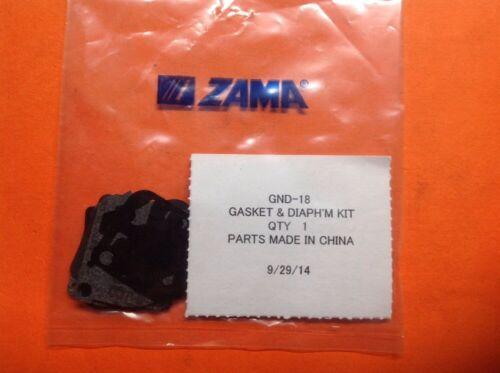 GENUINE ZAMA CARBURETOR GASKET KIT  # GND-18 FOR MANY C1Q AND C1U  CARBS