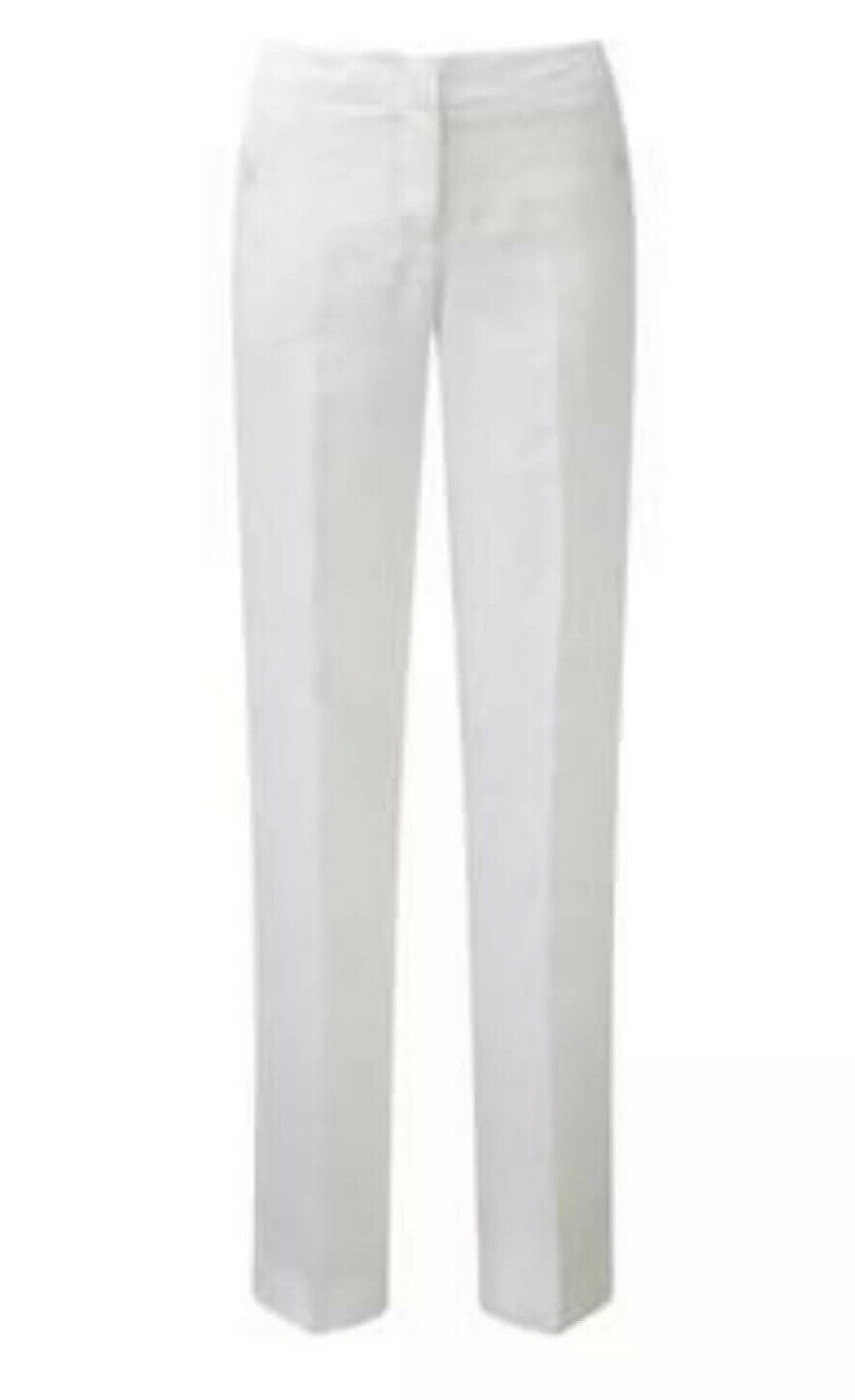 Fabiana Filippi Taupe White Trousers - Size 16 - New without tags - RRP .